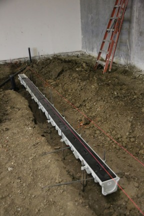 One of our glorious trench drains!