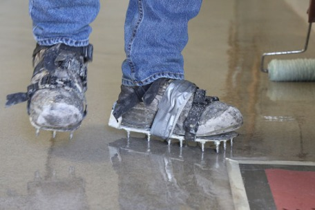 Crampons for walking on the wet flooring