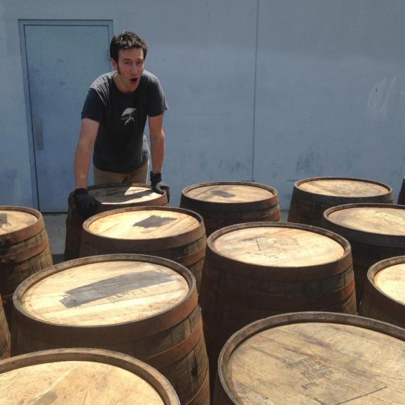Porter likes his barrels!!