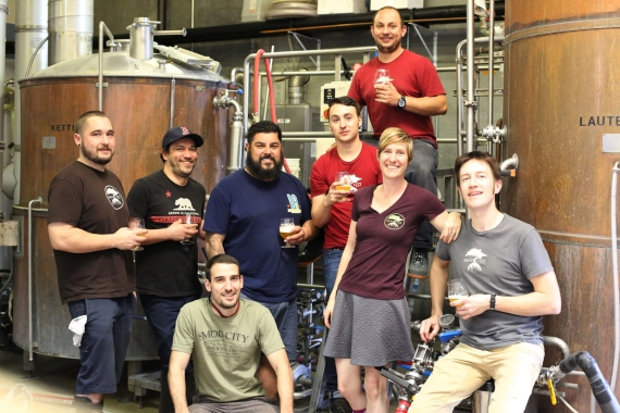 OUr Smog City Team. Each year we all come together to brew the Anniversary Beer. This was that day.  So proud to be apart of this family we have built together.