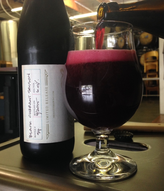 Black Currant Saison- Limited bottles available. Only 21 cases for sale at the event.